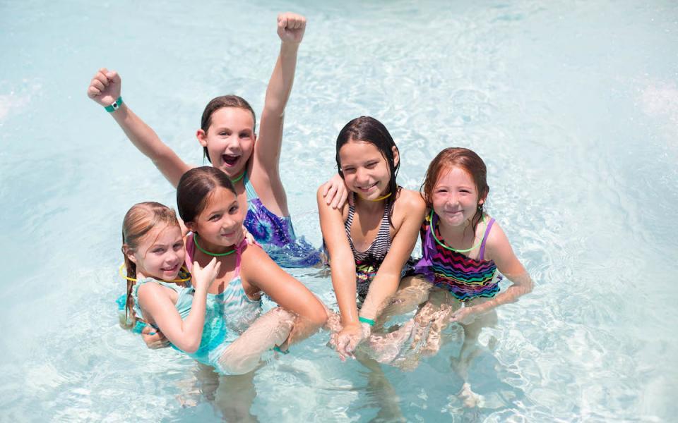 7cc15753ee James P. Gills YMCA campers smiling in pool